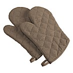 Design Imports Terry Oven Mitts in Brown (Set of 2)