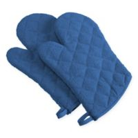 Design Imports Terry Oven Mitts in Blueberry (Set of 2)