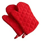 Design Imports Terry Oven Mitts in Red (Set of 2)