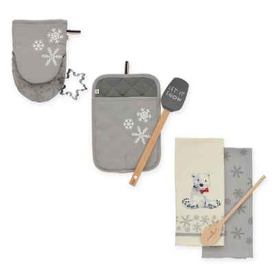 ED Ellen DeGeneres Snowflake Holiday Kitchen Sets
