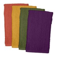 Design Imports 4-Pack Bar Mop Kitchen Towels in Warm Colors