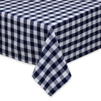Design Imports Checkers 52-Inch Square Tablecloth in Multi