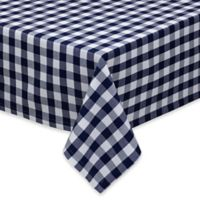 Design Imports Checkers 60-Inch x 84-Inch Oblong Tablecloth in Multi