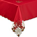 Kori Poinsettia 60-Inch x 84-Inch Oblong Tablecloth in Red