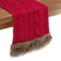 Cozy Claus 108-Inch Table Runner in Red