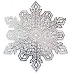 Benson Mills Snow Crystal Placemat in Silver