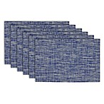 Design Imports Tweed Placemats in Nautical Blue (Set of 6)