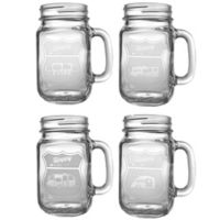 Rolf Glass Happy Camper Assorted Drinking Jars (Set of 4)