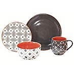 Baum Lynx 16-Piece Dinnerware Set in Grey