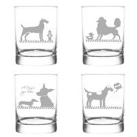 Rolf Glass Kennel Club Double Old Fashioned Glasses (Set of 4)
