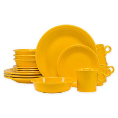 Fiesta® 16-Piece Dinnerware Set in Daffodil  sc 1 st  Bed Bath \u0026 Beyond & Buy Fiesta Dinnerware Sets from Bed Bath \u0026 Beyond