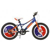 NBA New York Knicks 20-Inch Kids Mountain Bike in Blue/Orange