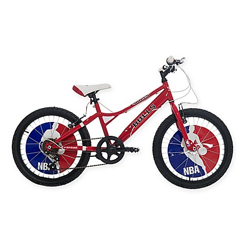 nba chicago bulls 20 inch kids mountain bike in red black. Black Bedroom Furniture Sets. Home Design Ideas