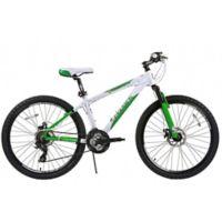 NBA Boston Celtics 26-Inch 380mm Kids Mountain Bike with Disc Brakes in White/Green