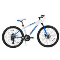 NBA Orlando Magic 26-Inch 380mm Kids Mountain Bike with Disc Brakes in White/Blue