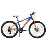 NBA New York Knicks 26-Inch 380mm Kids Mountain Bike with Disc Brakes in Blue/Orange