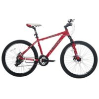 NBA Chicago Bulls 26-Inch 380mm Kids Mountain Bike with Disc Brakes in Red/Black