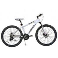NBA San Antonio Spurs 26-Inch 380mm Kids Mountain Bike with Disc Brakes in White/grey