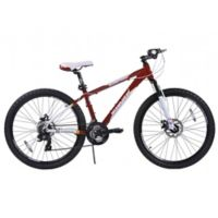NBA Miami Heat 26-Inch 380mm Kids Mountain Bike with Disc Brakes in Red/White