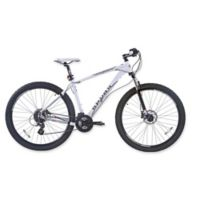 NBA San Antonio Spurs 29-Inch 380mm Mountain Bike with Disc Brakes in White/Grey