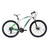 NBA Boston Celtics 29-Inch 425mm Mountain Bike with Disc Brakes in White/Green