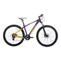 NBA Los Angeles Lakers 29-Inch 425mm Mountain Bike with Disc Brakes in Yellow/Purple