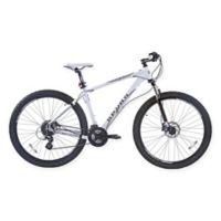 NBA San Antonio Spurs 29-Inch 425mm Mountain Bike with Disc Brakes in White/Grey