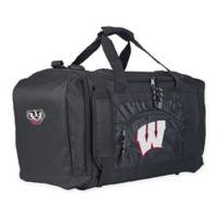 "University of Wisconsin ""Roadblock"" Duffel Bag by The Northwest in Black"