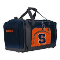 """Syracuse University """"Roadblock"""" Duffel Bag by The Northwest in Navy/Orange"""