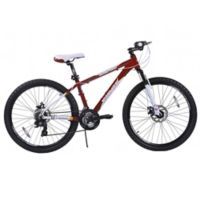 NBA Miami Heat 26-Inch 430mm Mountain Bike with Disc Brakes in Red/White