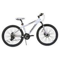 NBA San Antonio Spurs 26-Inch 430mm Mountain Bike with Disc Brakes in White/Grey