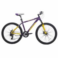NBA Los Angeles Lakers 26-Inch 430mm Mountain Bike with Disc Brakes in Yellow/Purple