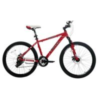 NBA Chicago Bulls 26-Inch 430mm Mountain Bike with Disc Brakes in Red/Black