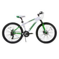 NBA Boston Celtics 26-Inch 430mm Mountain Bike with Disc Brakes in White/Green