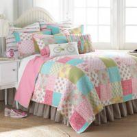 Levtex Home Juliet Reversible Twin Quilt Set in Pink/Green