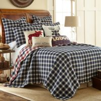 Levtex Home Lodge Reversible Full/Queen Quilt Set in Navy/Red