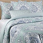 Scarf Printed 5-Piece Full/Queen Comforter Set in Aqua