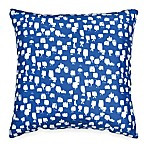 Scribble Paint Brush 18-Inch Square Throw Pillow in Navy