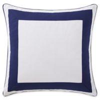 Indienne Paisley European Pillow Sham in Navy/White