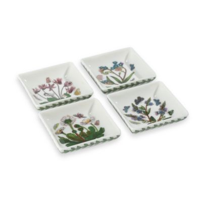 portmeirion botanic garden square mini dishes set of 4