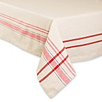 Design Imports French Stripe 60-Inch x 104-Inch Oblong Tablecloth in Red/White