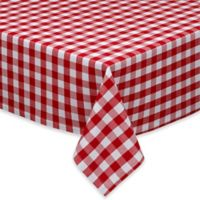 Design Imports Checkers 60-Inch x 120-Inch Oblong Tablecloth in Red/White