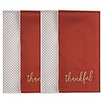 """Thankful"" Harvest Napkins in Rust/Gold (Set of 4)"