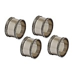 Design Imports Silver Band Napkin Rings (Set of 4)