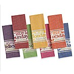 Design Imports 7-Piece Days of the Week Kitchen Towel Set