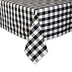 Design Imports Checkers 52-Inch Square Tablecloth in Black/White