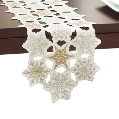 Superior Snowy Dream 72 Inch Table Runner