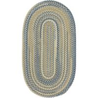 Capel Rugs Tooele 3-Foot x 5-Foot Braided Oval Area Rug in Light Tan
