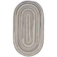 Capel Rugs Tooele 3-Foot x 5-Foot Braided Oval Area Rug in Grey