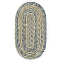Capel Rugs Tooele 4-Foot x 6-Foot Braided Oval Area Rug in Light Tan